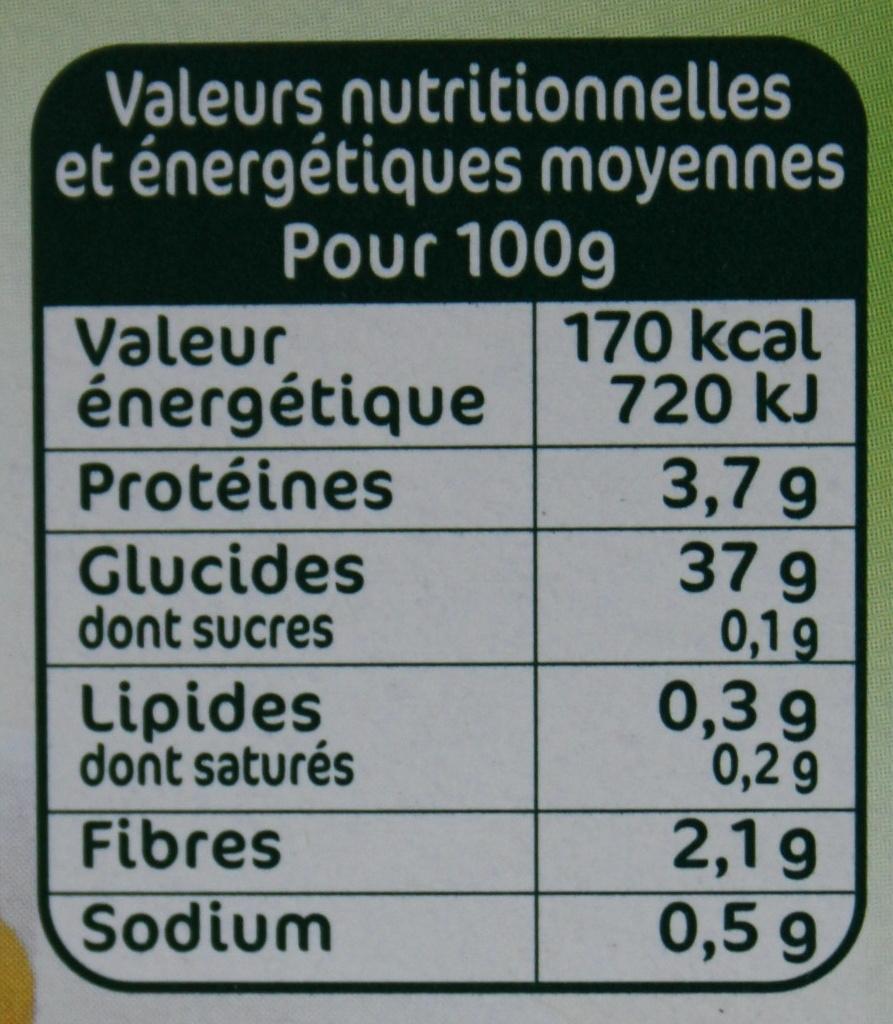 Gnocchi à Poêler - Nutrition facts - fr