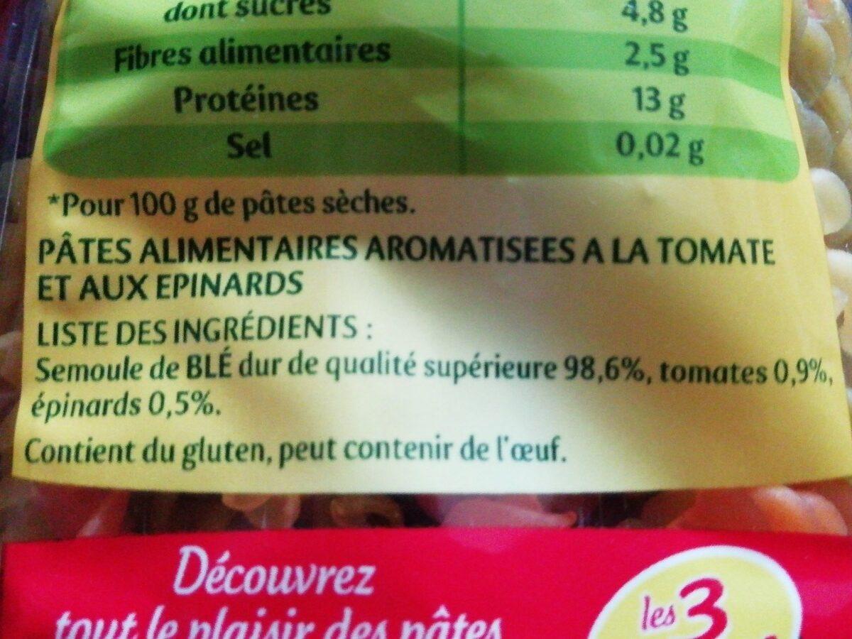 Torti Tomates & Épinards - Ingredients