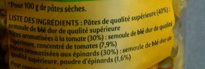 Panzani torti tomates & epinards - Ingredients - fr