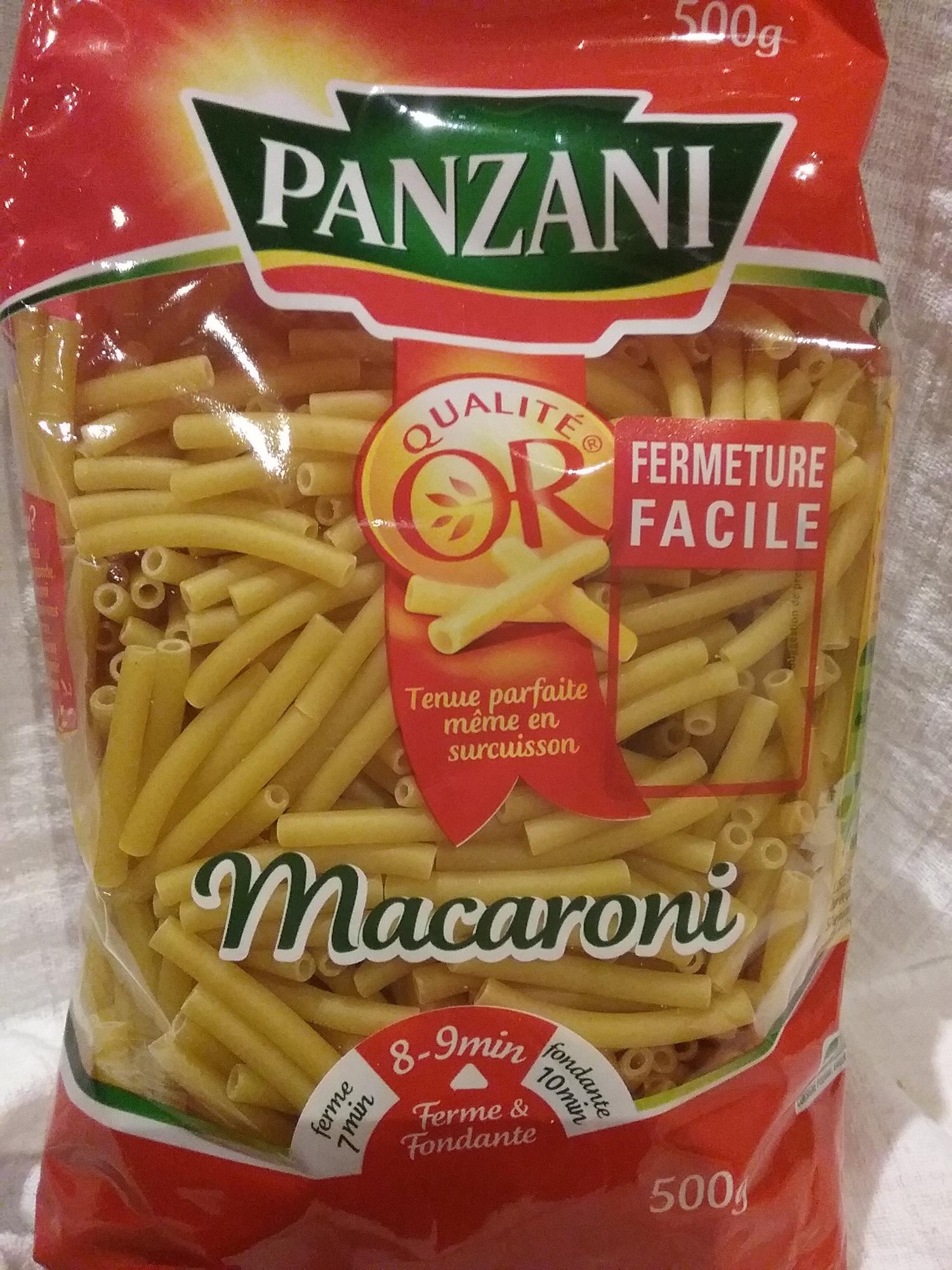 Pates panzani macaroni 500g (dia) - Product - fr