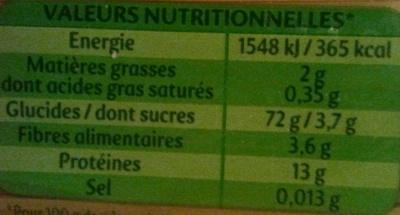 Panzani capellini 1kg - Nutrition facts - fr