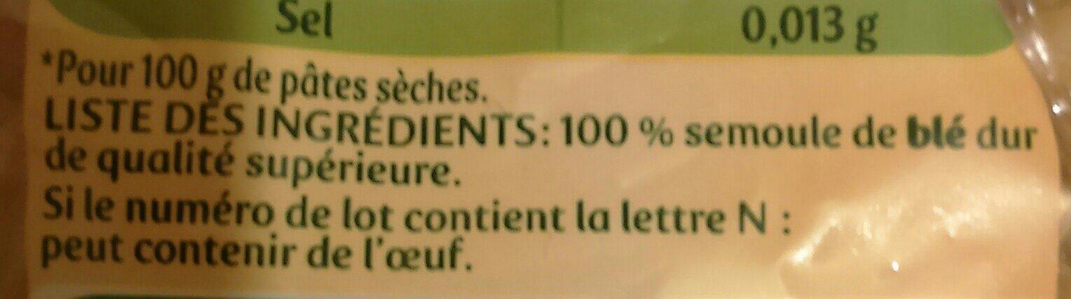 Fusilli - Ingredients - fr