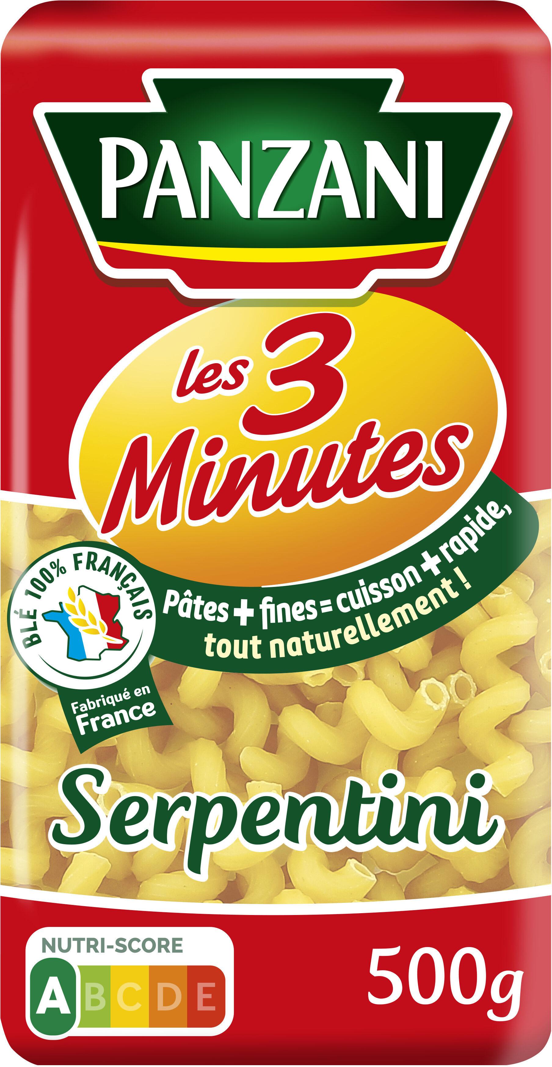 Panzani serpentini 3 minutes - Product - fr
