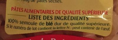 Panzani serpentini 3 minutes - Ingredients - fr
