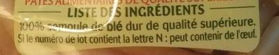 Macaroni 3 minutes - Ingrediënten - fr