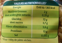 Les 3 Minutes, Torti - Nutrition facts
