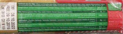 Panzani Spaghetti n.5 - Nutrition facts - it
