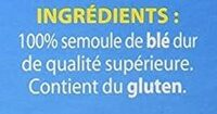 Graine de Couscous Moyenne - Ingrediënten - fr