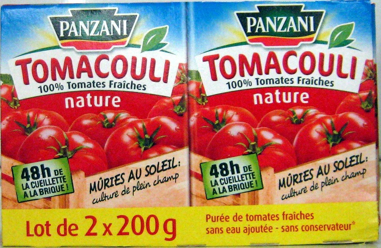 Tomacouli 100% Tomates Fraîches nature (Lot de 2 x 200 g) - Product - fr