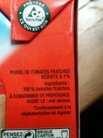 Tomacouli nature - Ingrediënten