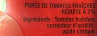 Tomacouli nature - Ingredienti - fr