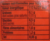 Tomacouli 100% Tomates Fraîches nature - Nutrition facts - fr