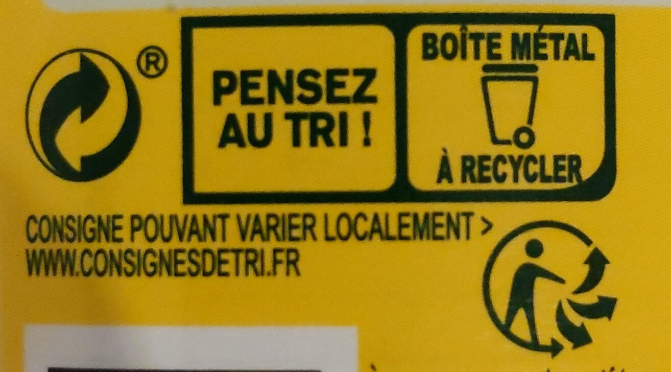 Ravioli pur bœuf, farce au bœuf - Recycling instructions and/or packaging information - fr