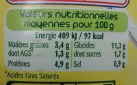 PZ RAVIOLI BOLO 800GR - Nutrition facts - fr
