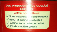 Le Cannelloni (100 % pur Bœuf) - Ingrediënten