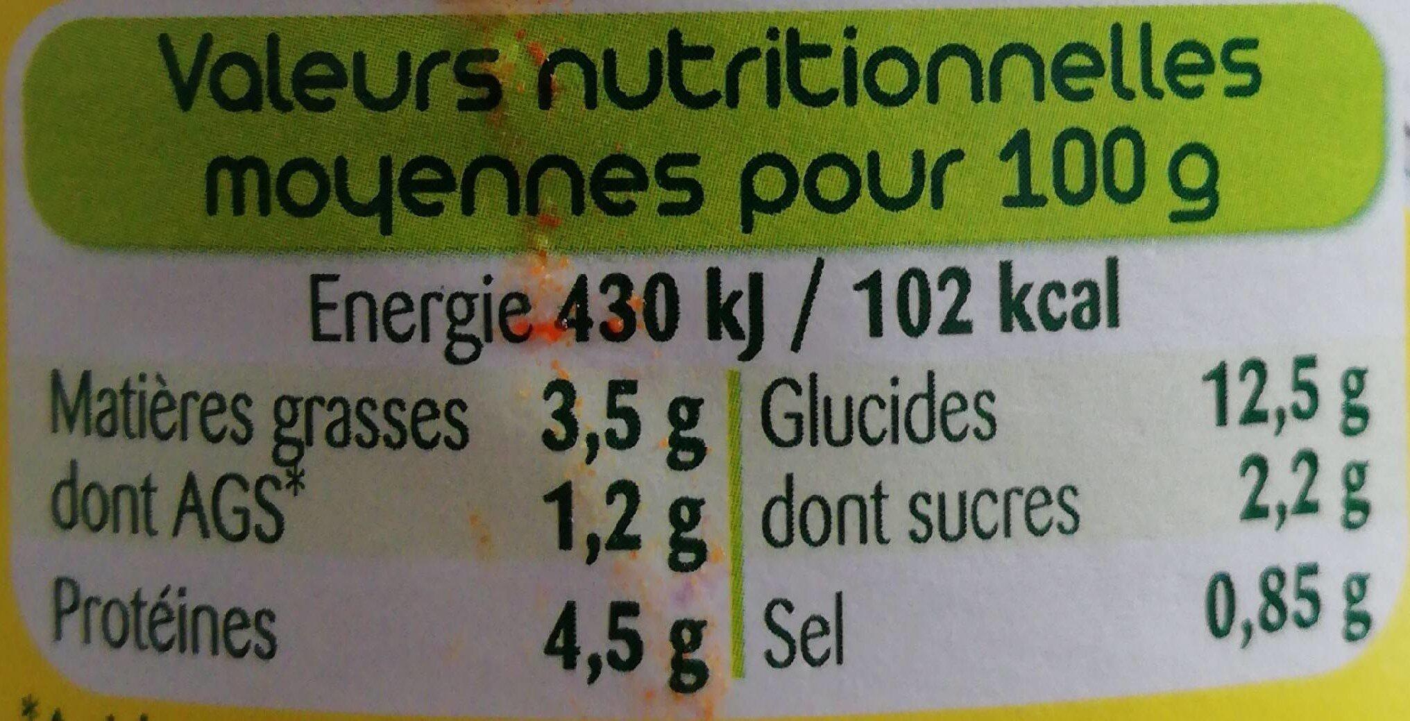 Le Cannelloni (100 % pur Bœuf) - Informations nutritionnelles - fr