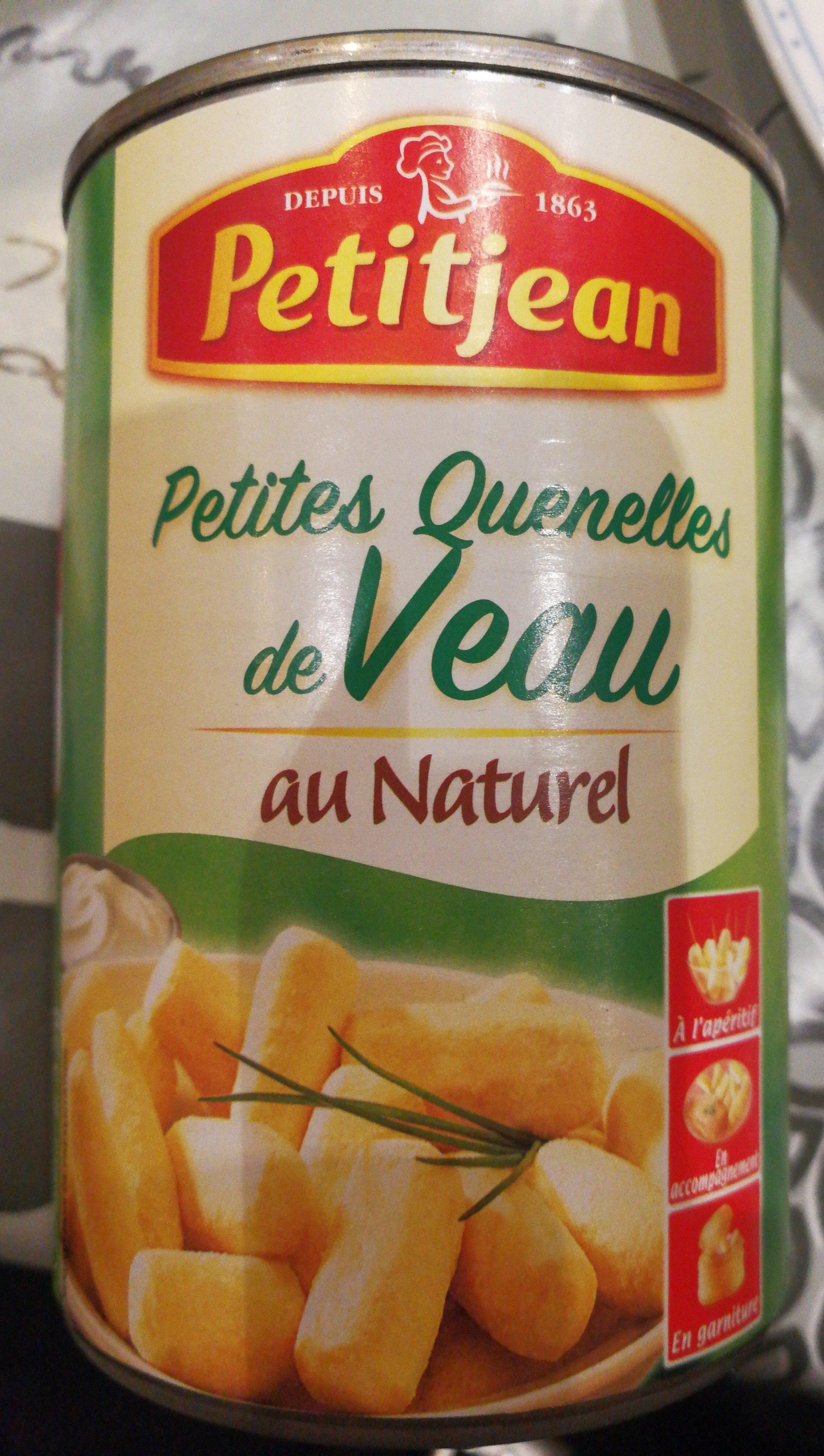 Minis Quenelles de Veau au Naturel - Ingrédients - fr