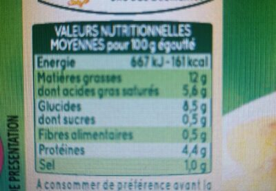 Minis Quenelles de Veau au Naturel - Informations nutritionnelles - fr