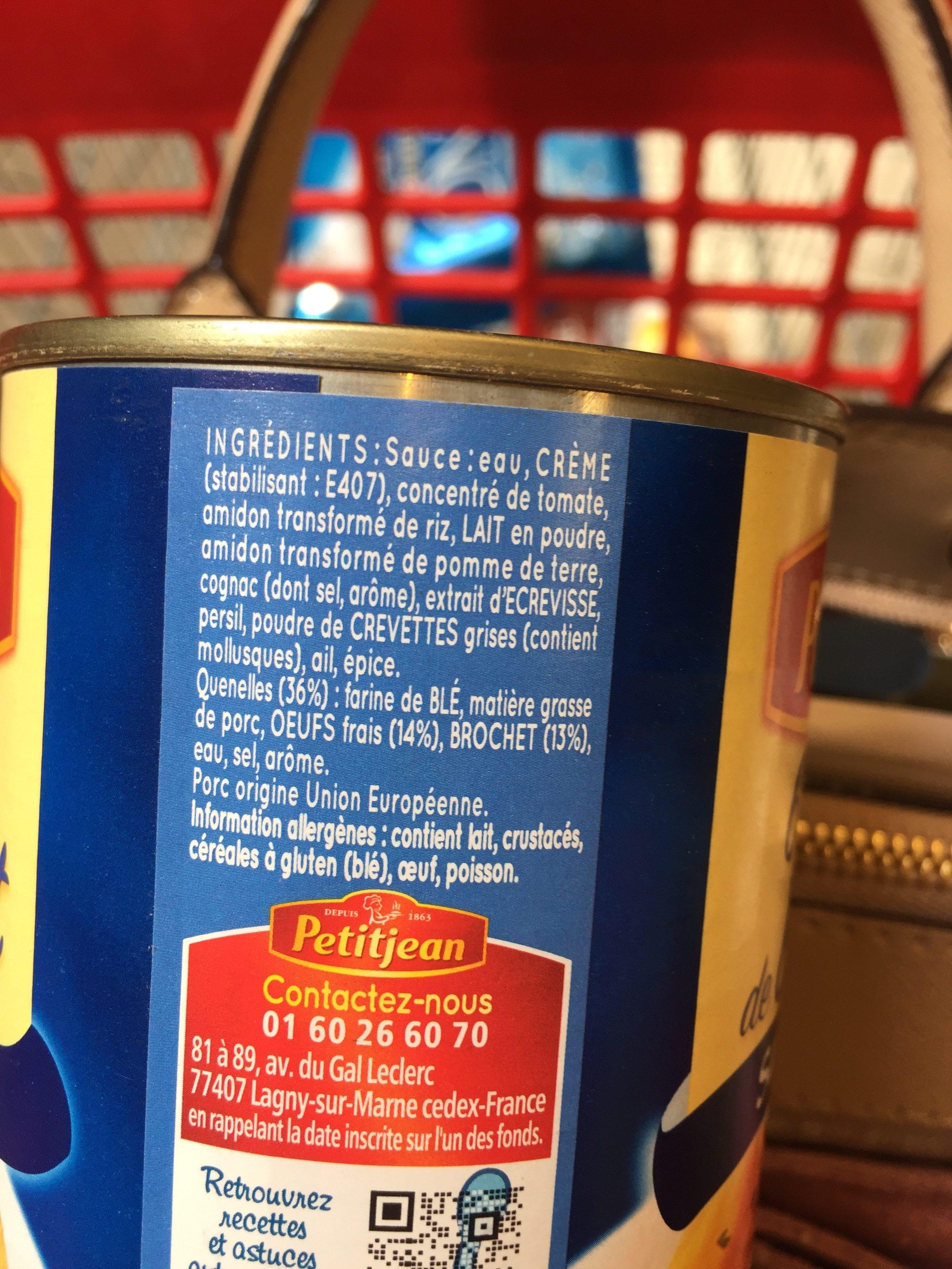 6 Quenelles de Brochet, Sauce Nantua - Ingrediënten