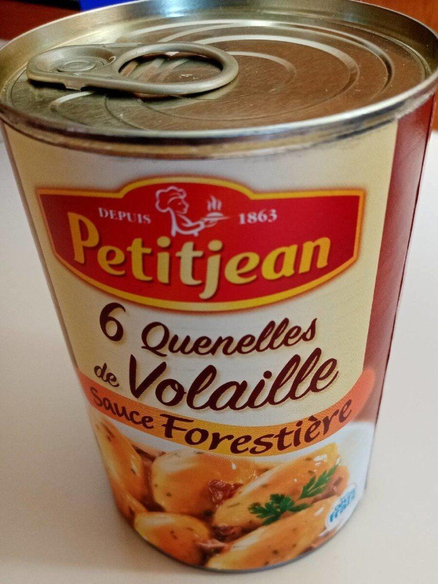 Quenelles de volaille sauce forestière - Produit - fr