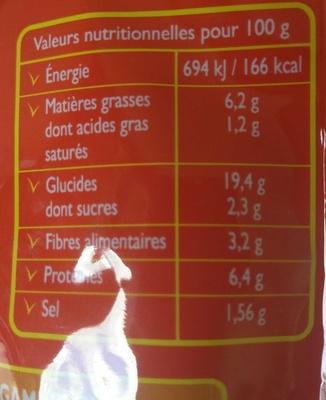 Spaghettini Bolognaise (Les Cuisinées Express) - Voedingswaarden - fr