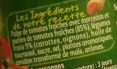 Sauce provençale aux tomates fraîches - Ingrediënten