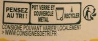 Panzani - spf - sauce tomates cuisinées - Instruction de recyclage et/ou informations d'emballage - fr