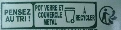 Panzani - spf - sauce tomates & basilic - Istruzioni per il riciclaggio e/o informazioni sull'imballaggio - fr