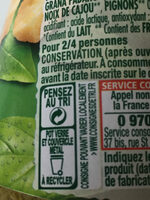 Panzani Sos Pesto Basillico cu branzeturi italiene - Recycling instructions and/or packaging information - ro