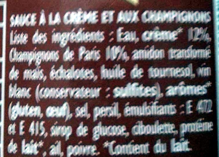 Sauce pour risotto maison Champignons - Ingrédients