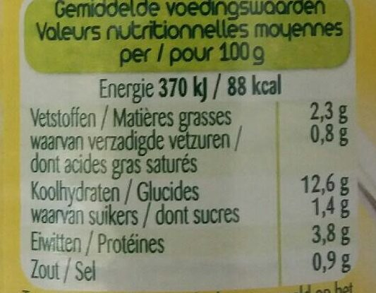 Ravioli Bolognaise - Nutrition facts