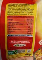 Lustucru riz a poeler tomates - Información nutricional - fr