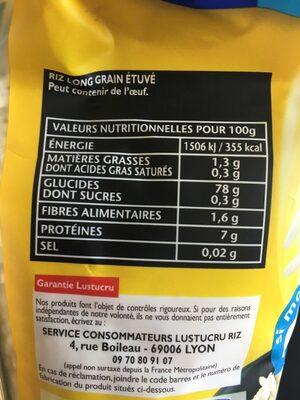 Le riz à poêler - Nature et tendre - Ingrédients - fr