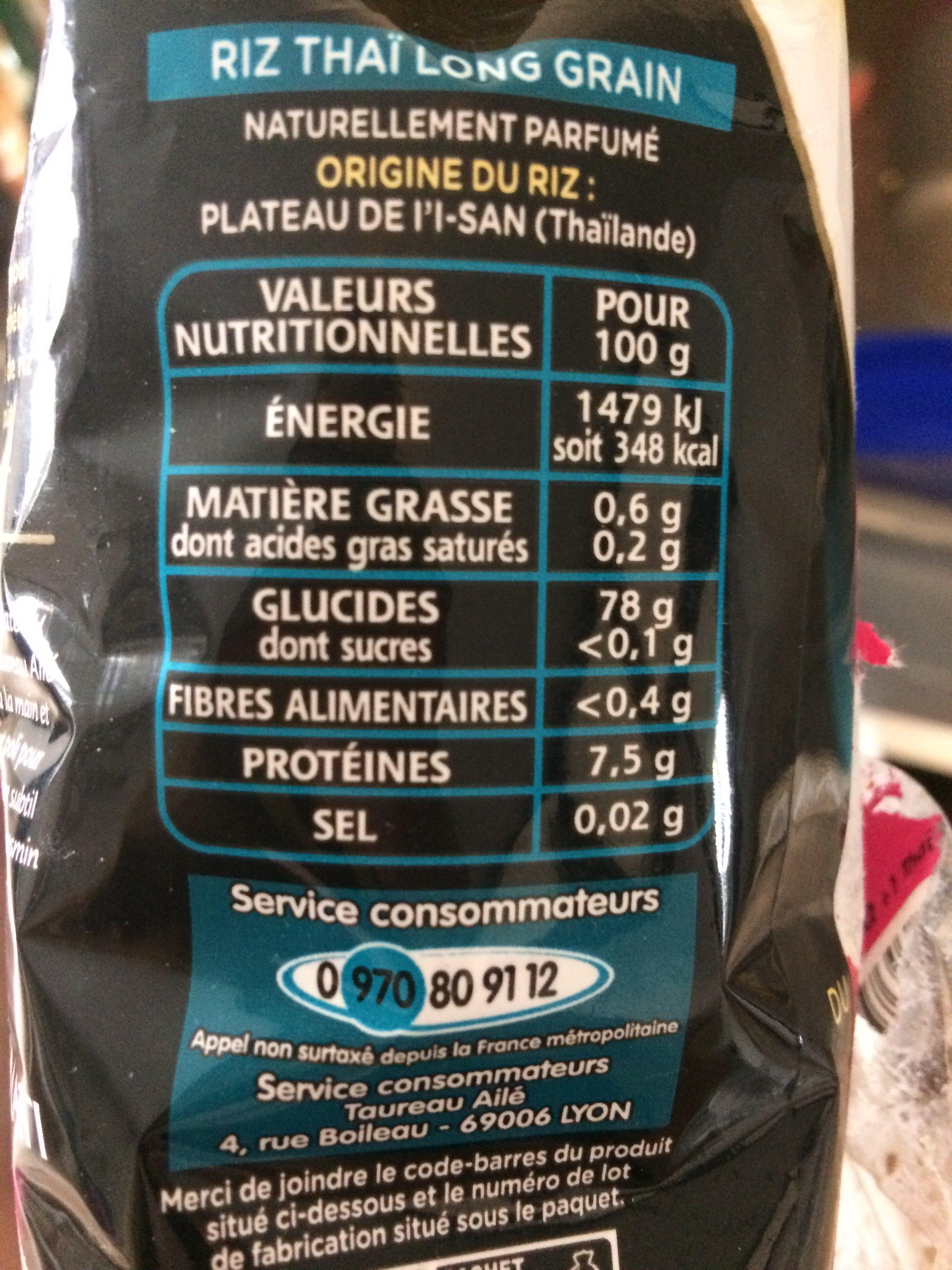 Riz Thai LOT de 3 - Ingrediënten