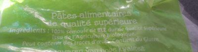 Panzani coquillette bio qualite superieure 3kg - Ingrédients - fr