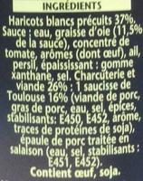 Cassoulet toulousain à la graisse d'oie - Ingredients
