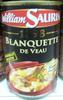 1898 - Blanquette de veau - Produit
