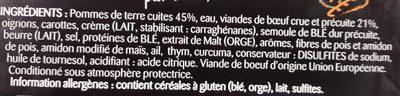 Hachis Parmentier (Pur Bœuf) - Ingrediënten - fr