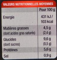 L'Assiette du Jour, Hachis Parmentier (Pur Bœuf) - Nutrition facts