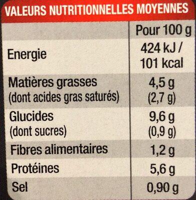 Hachis Parmentier (Pur Bœuf) - Voedingswaarden - fr