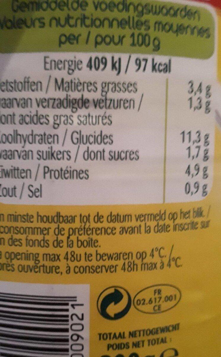 le ravioli tradizionale - Nutrition facts