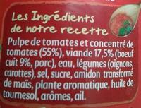 Bolognaise - Ingredienti - fr