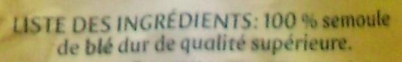Panzani coquillettes 1,4kg - Ingrédients - fr