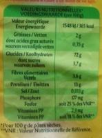 Panzani coquillettes 1,4kg - Informations nutritionnelles - fr