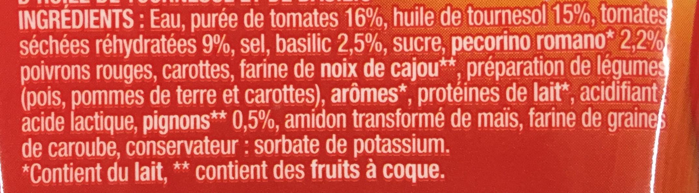 Sauce Pesto Rouge - Ingrédients