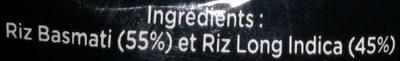 Le Riz Parfumé - Ingredienti - fr