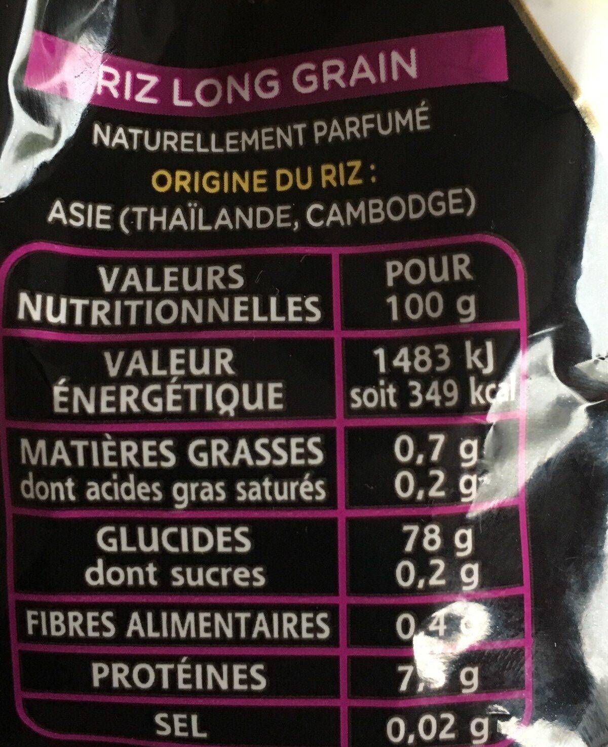 Riz parfumé - Ingrédients