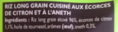 Le riz à poêler citron aneth - Ingredients - fr