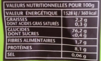 Le riz à poêler citron aneth - Nutrition facts - fr