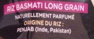 Le Basmati du Penjab - Ingrédients - fr